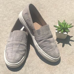 Vince Camuto Beyza Gray Suede Sneaker Loafer Sz 7M